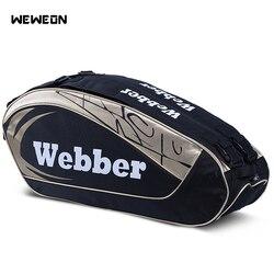 Большой дизайнерский рюкзак для тенниса сумка для бадминтона 2 модели для 8-12 шт сумки для ракеток для профессиональных спортивных соревнов...
