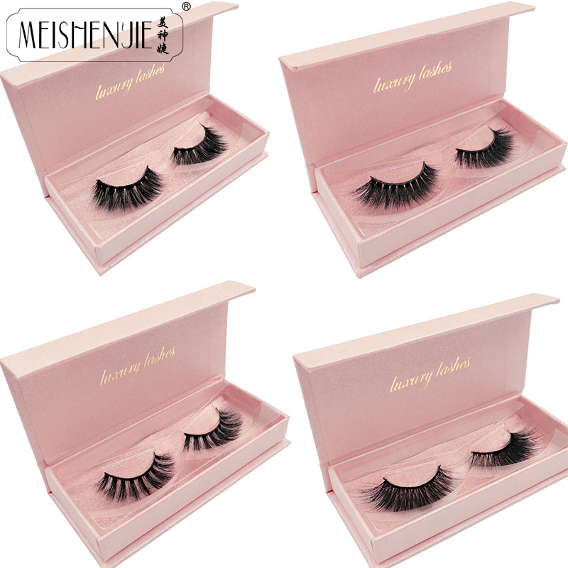 New 3D Mink Lashes Gorgeous Box Dramatic Eyelashes Volume Eyelash Extensions Mink Eyelashes Natrual Long False Eyelashes Beauty