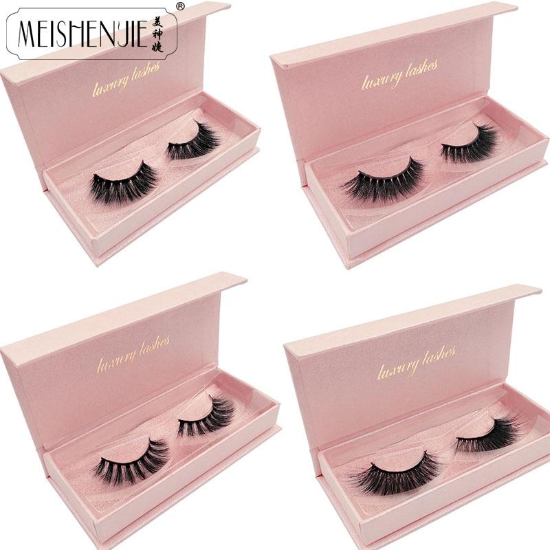 New 3D Mink Lashes Gorgeous Box Dramatic Eyelashes Volume Eyelash Extensions Mink Eyelashes Natrual Long False Eyelashes Beauty