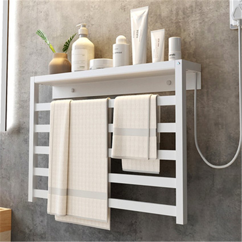 V-103 Intelligent Towel Warmer Smart Fast Drying Heated Towel Rail Wall Mounted Electric Heating Towel Rack With Storage Rack