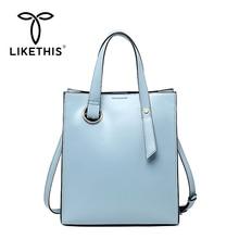 LIKETHIS 2019 New Women Handbags Trend Woman Messenger Shoulder Bag Female Luxury Designer Travel Ladies Portable Office Totes