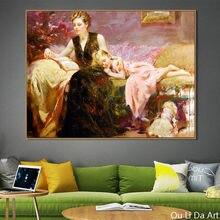 Nenhum quadro impressão figuras pastoral arte imprime poster impressões da lona pintura a óleo impresso na lona decoração da parede casa fotos
