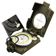 Multifunctional Compass Outdoor Military Waterproof All-Metal with Bubble-Level for Sports