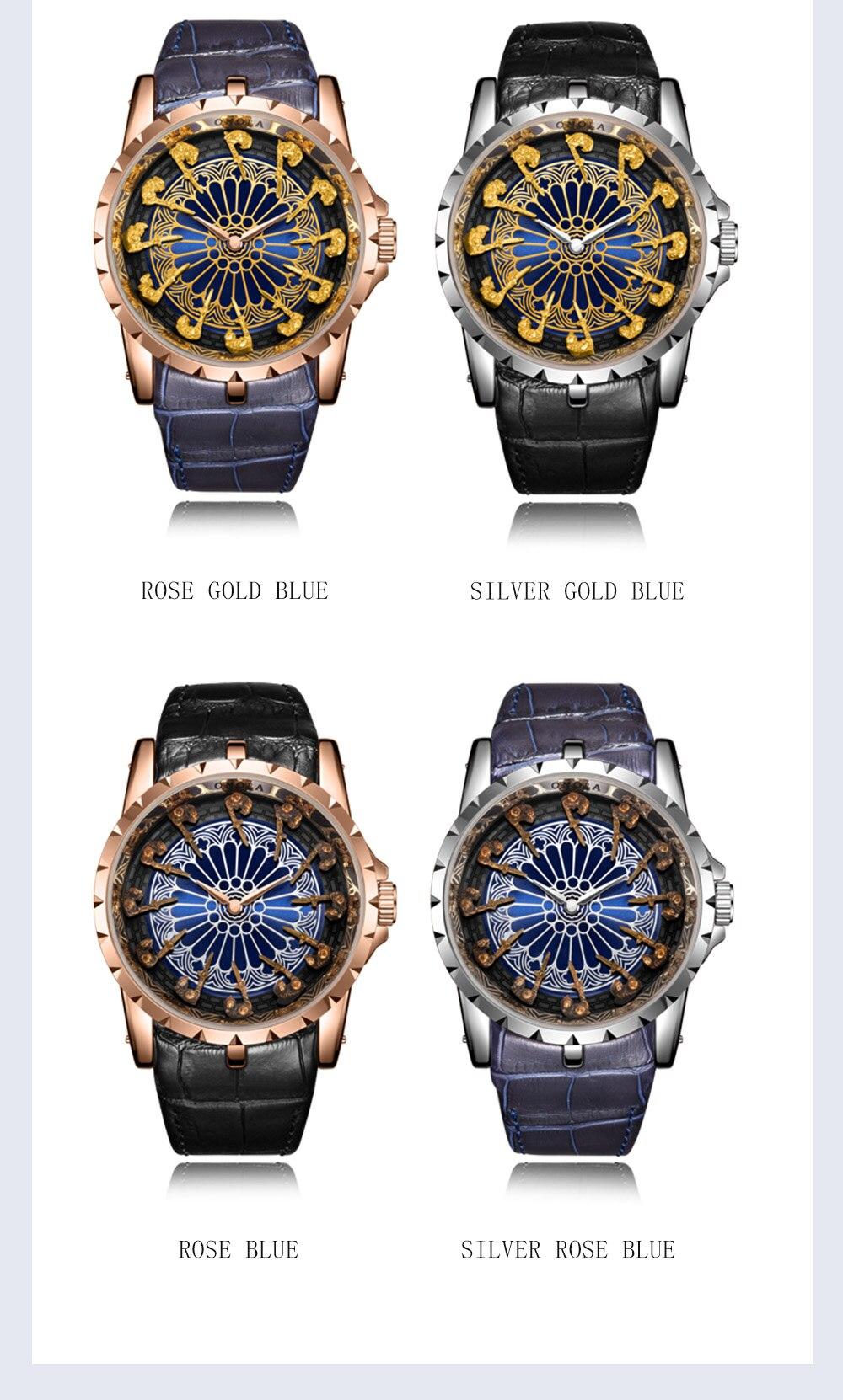 Onola marca único relógio de quartzo homem