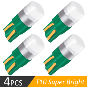 4PCS T10 W5W Super Bright 3030 LED Car Interior Reading Dome Light Marker Lamp 168 194 LED Auto Wedge Parking Bulbs DRL