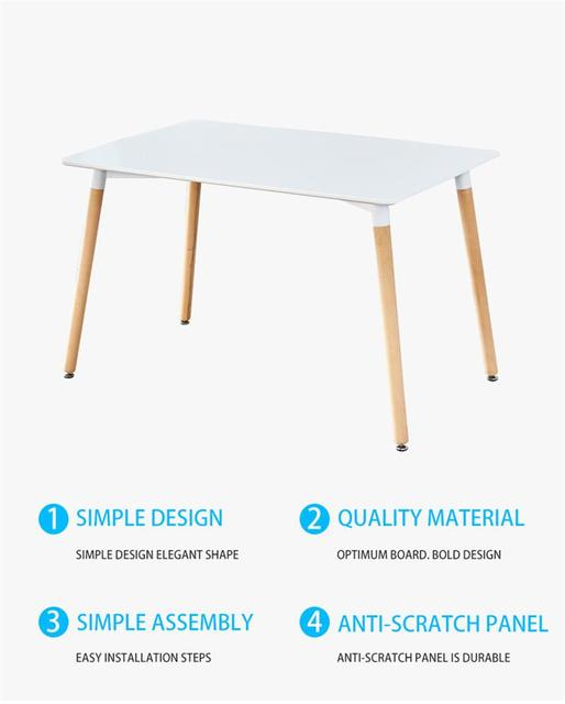 Dining Table Solid Wood Modern Retro Design Simple Durable Bar Table Home Kitchen Breakfast Bar Furniture Dining Table For Home 3