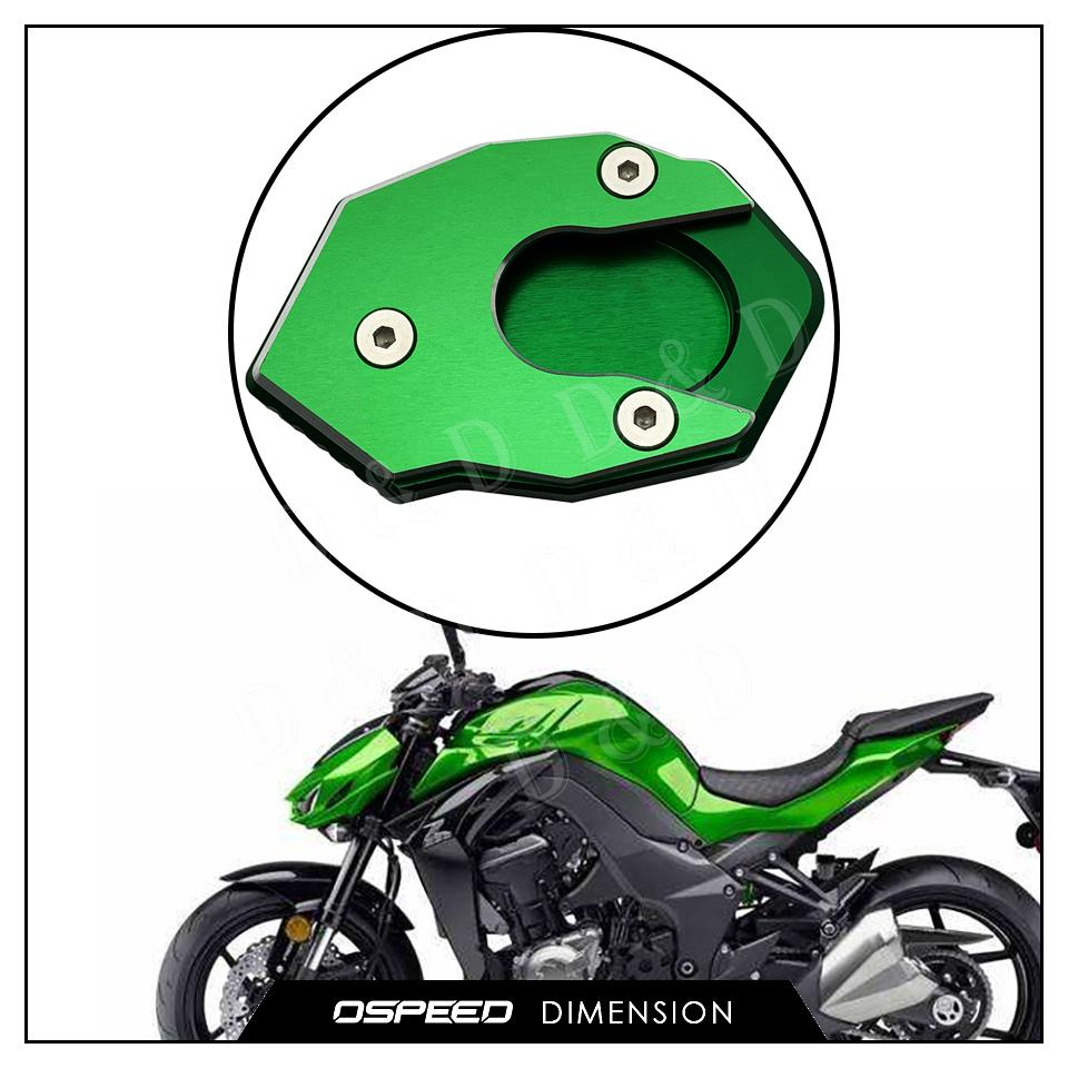 For <font><b>Kawasaki</b></font> Z1000 <font><b>Z1000SX</b></font> Z900 Z800 Z650 ZX6R ZX10R 2018 <font><b>2019</b></font> 2020 Motorcycle Parking Kickstand Side Stand Enlarge Plate Pad image