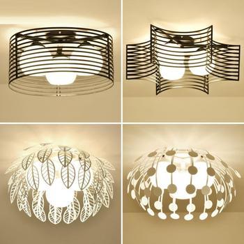 Simple modern led ceiling lamp creative master bedroom lamp warm dining room lamp iron children's room lamp