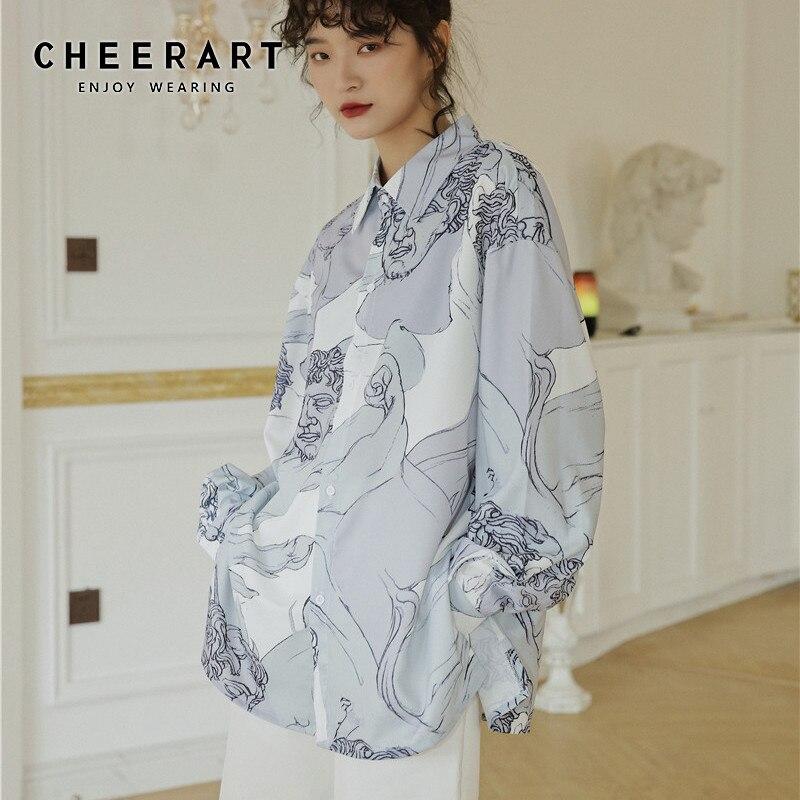 Женская блузка с длинным рукавом, на пуговицах