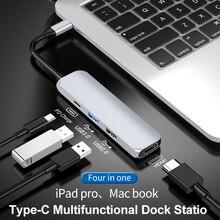 Usb c hub tipo c hub para hdmi ethernet multi usb 3.0 porta pd adaptador de alimentação para macbook pro doca USB-C divisor hub