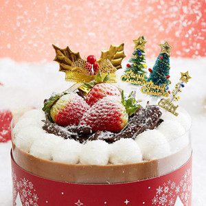 Image 5 - 5/10pcs Merry Christmas Cake Topper Mini Christmas Tree Cupcake Toppers New Year Xmas Party Ornaments Kids Birthday Cake Decor