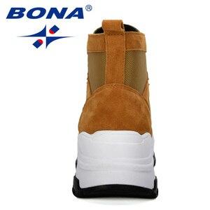 Image 3 - 善意 2019 新人デザイナースエード冬の靴女性の雪のブーツプラットフォーム暖かいアンクルブーツの女性の厚いかかとぬいぐるみbota ş mujer