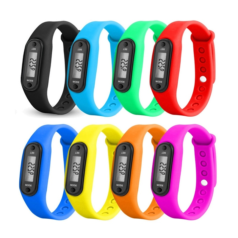 1PCs Sport Smart Wrist Watch Bracelet Display Fitness Gauge Step Tracker Digital LCD Pedometer Run Step Walking Calorie Counter