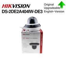 هيكفيجن الأصلي PTZ IP كاميرا DS 2DE2A404IW DE3 4MP 4X 2.8 12 مللي متر التكبير شبكة POE H.265 IK10 ROI WDR DNR قبة CCTV كاميرا متحركة