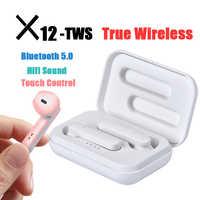 Nouveau X12 tws true wireless casque bluetooth 5.0 écouteurs appel bilatéral stéréo casques Sport écouteur fone de ouvido audifonos