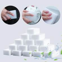 20 pçs 100*60*20mm pratos de cozinha limpador branco melamina nano esponja mágica esponja limpeza do banheiro escritório acessórios