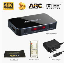 HDMI Switch 2.0 4K 60HZ HDR HDMI Splitter Switch 4 In 1 Out HDMI Switcher Audio Extractor ARC & IR Control For PS3 PS4 HDTV steyr hdmi 1 4 switch switcher box selector 3 in 1 out hdmi audio extractor splitter with optical spdif audio remote control