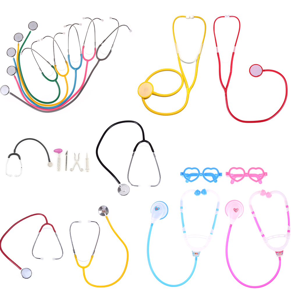 Hot Sale Doctor Nurse Play Stethoscope Toys For Children Kids Medical Kit Baby Educational Pretend Play Toy Classic Gift