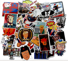 55Pcs American Presidential Trump Graffiti Stickers For Motorcycle Notebook Luggage Bicycle Skateboard Car and Decals