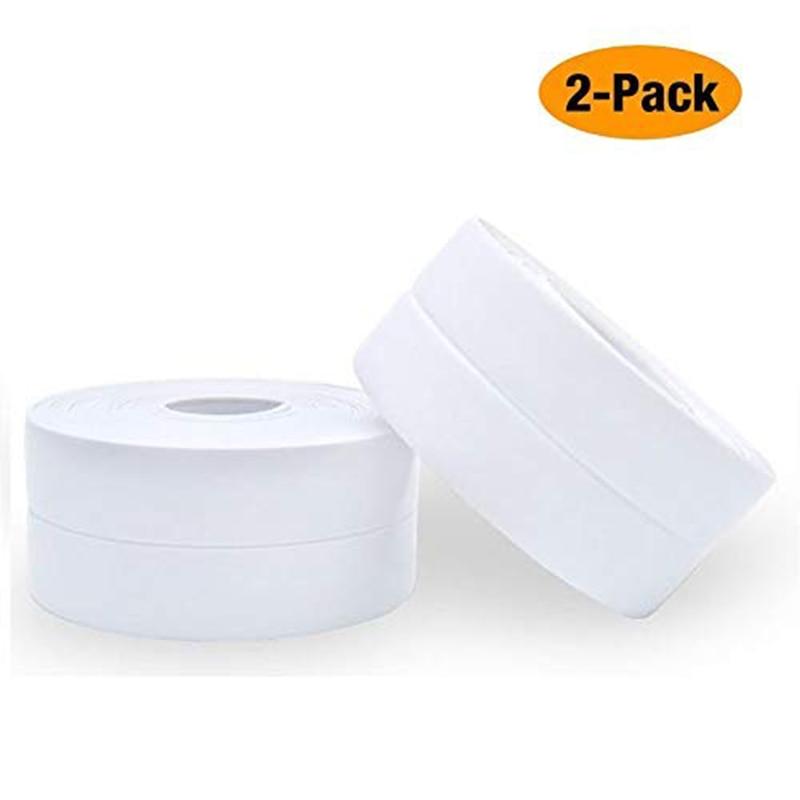 2 pack Strip Bathtub PE Sealing Tape Self Adhesive Sealant Caulk Strip Waterproof Sealing Tape for Bathroom Kitchen and Toilet