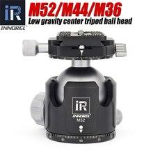 INNOREL Cabezal de bola M52/M44/M36, soporte de vídeo panorámico, cabezal de trípode de aluminio de bajo centro de gravedad, carga máxima de 30KG