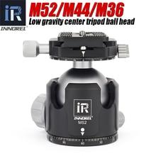 INNOREL M52/M44/M36 ball head panoramic video stand head new low center of gravity aluminum tripod ballhead maximum load 30KG