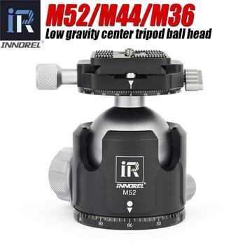 INNOREL M52 M44 M36 głowica kulowa panoramiczna głowica statywu wideo nowy niski środek ciężkości statyw aluminiowy głowica kulowa maksymalne obciążenie 30KG tanie i dobre opinie Aluminium M52 M44 M36 ball head