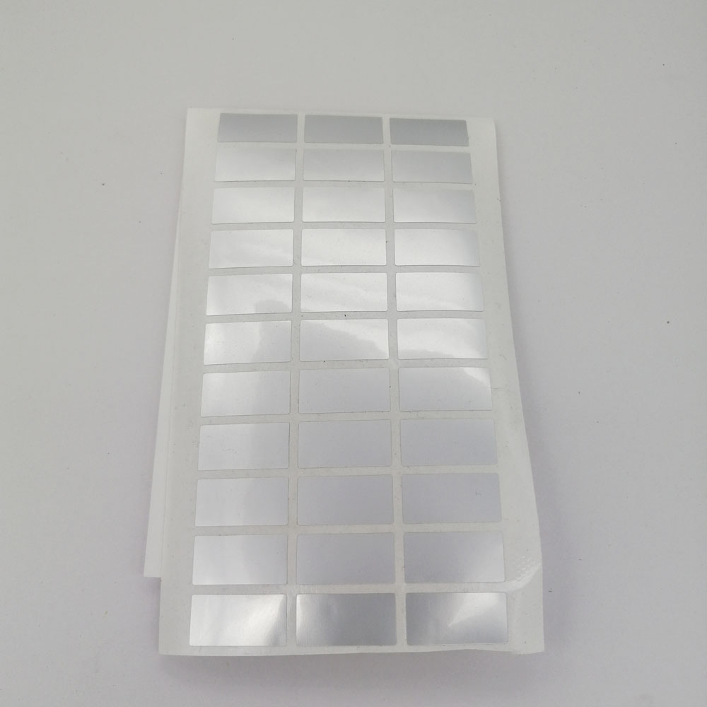 500 шт. 20 мм x 10 мм Серебряный Пустой наклейки безопастности уплотнение оторвать недействителен Стикеры занимается производством, с защитой о...