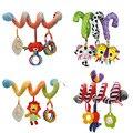 Подвесные погремушки для детской коляски, кроватки, Мультяшные игрушки для новорожденных, плюшевые спиральные игрушки для младенцев, погре...