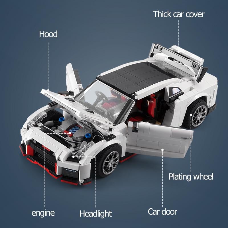 Cada City RC Drift Racing Vehicle,1322pcs