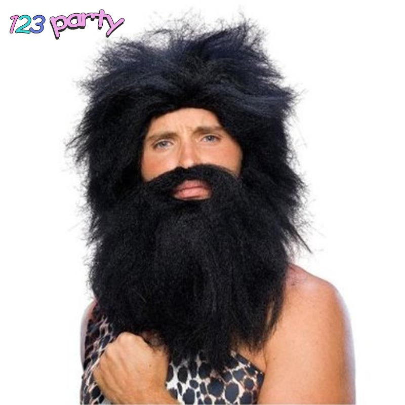 Savage Wig Headband Wig Beard Cosplay Mask Halloween Party Decoration Cosplay Props Party Supplies