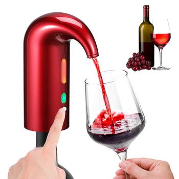 Elektryczny napowietrzacz do wina automatyczny nalewak do wina przenośny natychmiastowy karafka do wina dozownik USB akumulator inteligentny napowietrzacz do czerwonego wina napowietrzacz do wina tanie i dobre opinie Credeae CN (pochodzenie) ABS+silicone Ekologiczne Electric Wine Aerator Karafki 5 cm Przybory barowe