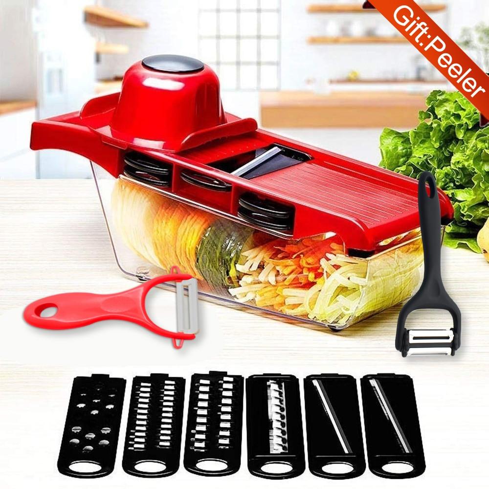 XYJ овощерезка мандолин измельчитель для картофеля Овощечистка сыра овощная Терка кухонные аксессуары подарок 2 овощерезки