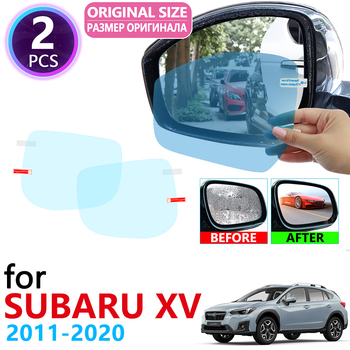for Subaru XV Crosstrek WRX STI 2011~2020 Full Cover Rearview Mirror Rainproof Anti Fog Film Accessories 2012 2014 2016 2018 image