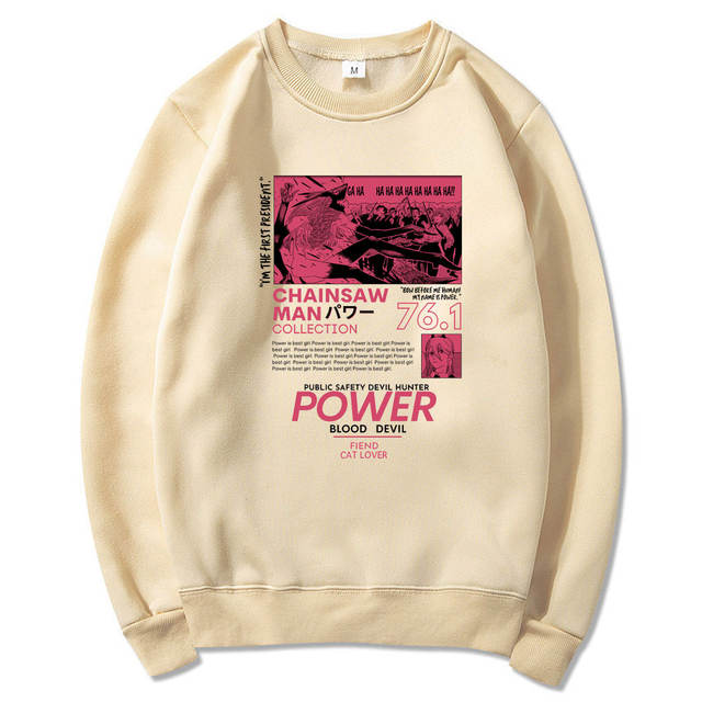 POWER CHAINSAW MAN THEMED SWEATSHIRT (10 VARIAN)