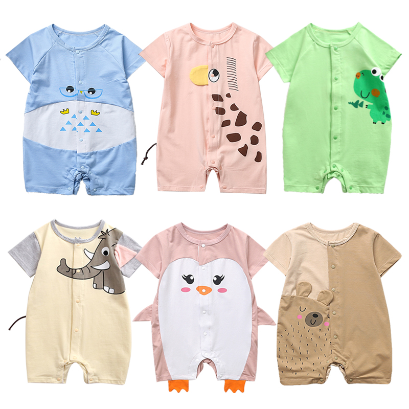 New Newborn Toddler Infant Baby Boys Girl Short Sleeve Casual Romper Jumpsuit Cotton Short Sleeve Clothes Summer Sunsuit