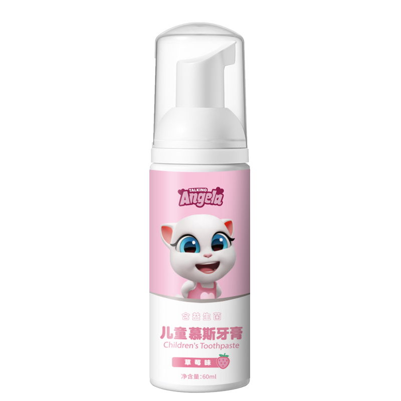 Talking Tom and Friends 60ml Children's Toothpaste Strawberry Favor Swallowable Mousse Foam Toothpaste