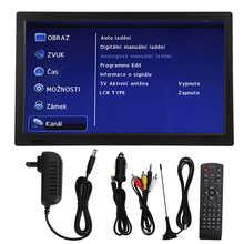 LEADSTAR 13 Cal kolorowy TFT-LED przenośny mały telewizor cyfrowy na przyczepa samochodowa zewnętrzna wtyczka amerykańska 110 ‑ 220V tanie tanio CN (pochodzenie) 12 1-16 cali FHD(1920*1280) 16 9 PAL (50Hz) NONE 1537g 1800mAh Portable Digital TV Digital Television for Car