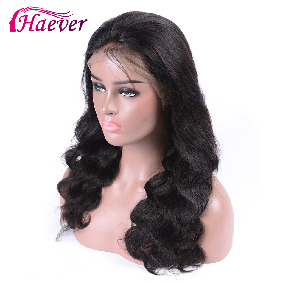 Haever 13x4 180% Brazilian Body Wave Wig Lace Front Human Hair Wigs For Black Women New Hair Pre Plucked With Baby Hair Remy