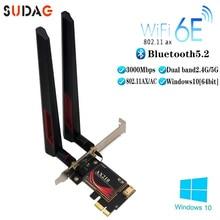 Adapter Network-Card Wi-Fi 6e 3000mbps Bluetooth 5.2 Intel Ax210 Pci-Express Wireless