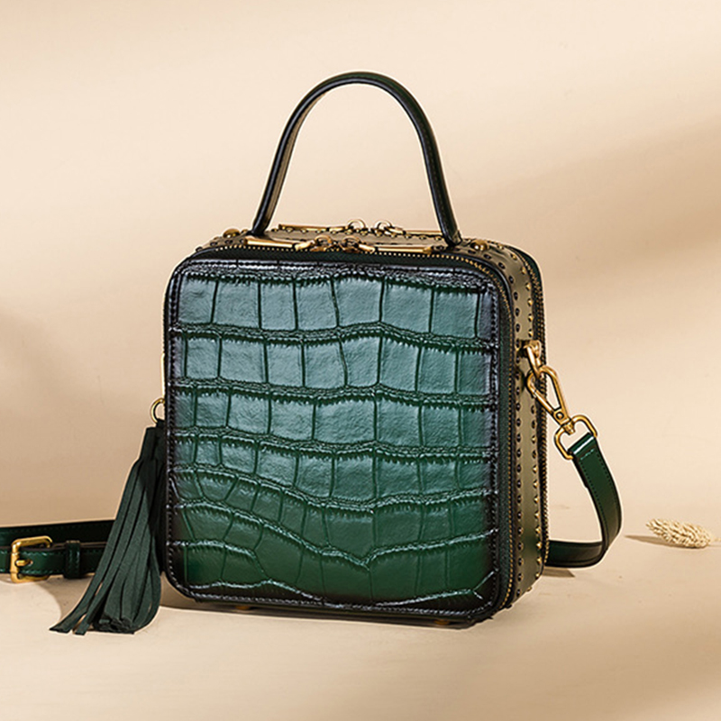 جلد طبيعي حقيبة يد فاخرة النساء أكياس رفرف عالية الجودة النساء حقيبة كتف الإناث Crossbody حقيبة ساعي Sac LSH444-في حقائب قصيرة من حقائب وأمتعة على  مجموعة 1