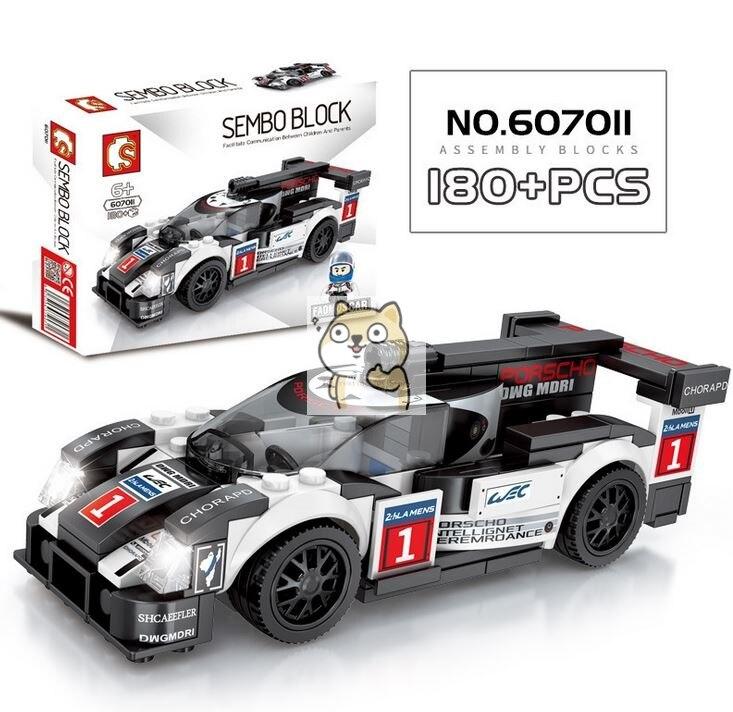 Детские сборные игрушки знаменитый автомобиль супер бегущий гоночный маленькие частицы Волшебные блоки для сборки конструктор-головоломка - Цвет: 011