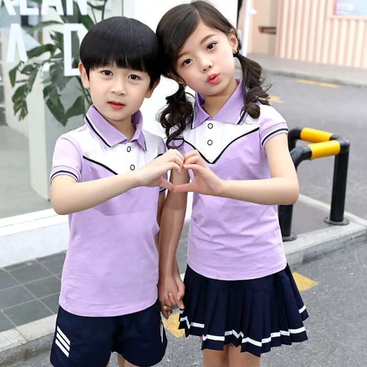 Kindergarten Summer Kindergarten Suit Children Business Attire Men And Women Children College Style Short Sleeve Sports Set Youn