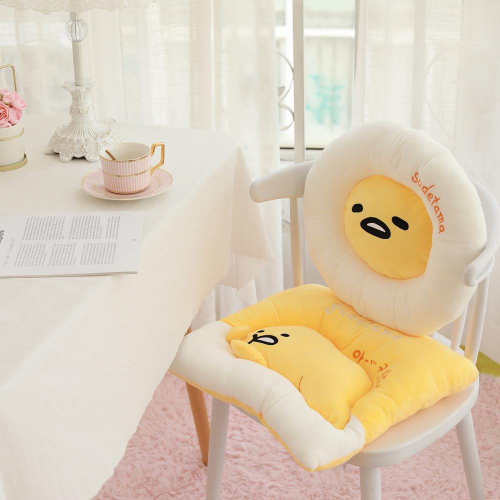 1pc New 40*45CM Cute Gudetama Lazy Egg Pillow Plush Toy Egg Yolk Brother Sofa Cushion Stuffed Toy For Children Christmas Gift