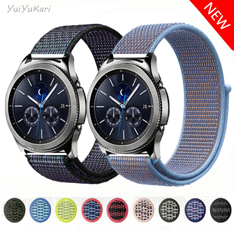 For Samsung Galaxy Watch 46mm 42mm Gear S3 Nylon Soft Breathable Watch Band Sport Ring Gear S3/ Huawei GT 2 Series 22mm 20mm