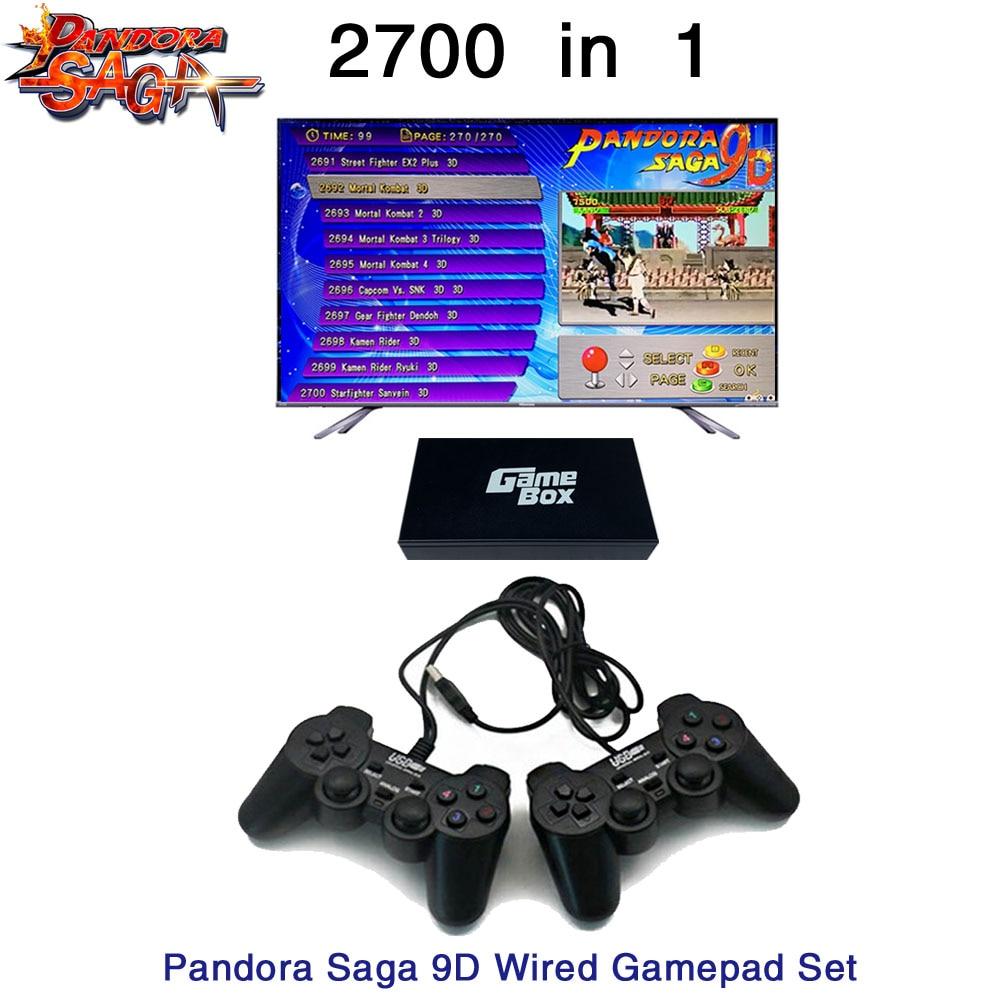 2700 en 1 Pandora Saga Box 9D board 2 joueurs filaire manette et sans fil jeu de manette Usb connect joypad arcade 3D jeux Tekken - 2