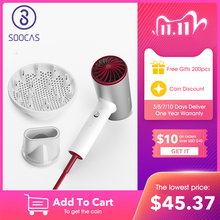 Soocas h5 íon negativo secador de cabelo 1800w profissional secador de cabelo liga alumínio poderoso secador elétrico ar quente frio circulando