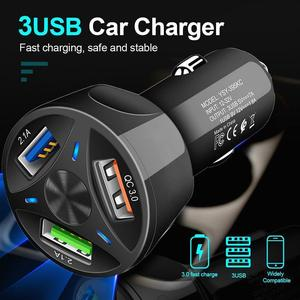 Image 3 - QC3.0 USB Car Charger LED Light 12 24V Cigarette Socket Lighter Power Adapter Fast Charging Car Charger For Iphone Samsung Phone