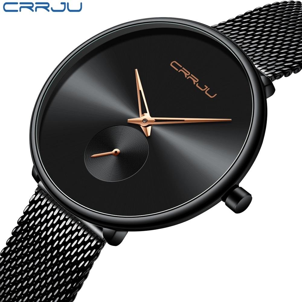 CRRJU Watch Women Luxury Brand Simple Quartz Lady Waterproof Wristwatch Female Fashion Casual Watches Girl Clock Reloj Mujer