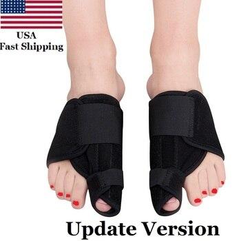 цены US 2PCS Big Bone Toe Bunion Splint Straightener Corrector Foot Pain Relief Hallux Valgus Corrector Big Toe Separator Protector
